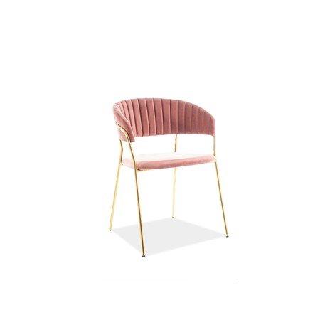 Židle LIRA zlatá/růžová
