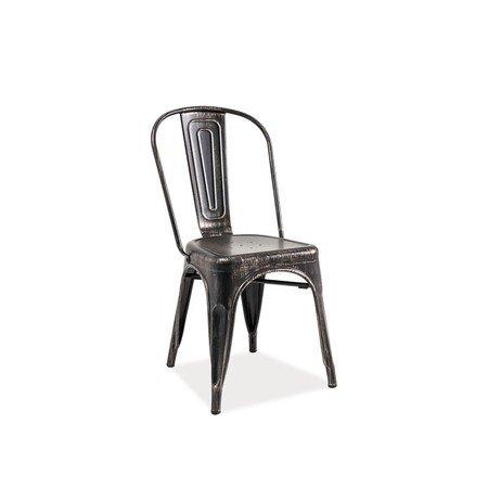 Židle LOFT černá žíhaná