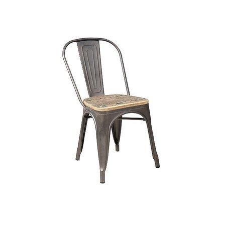 Židle LOFT ořech/grafit