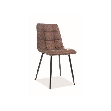 Židle LOOK černá/hnědá