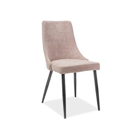 Židle NOBEL černá/béžová