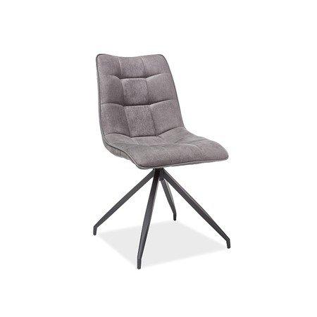 Židle OLAF černá/šedá