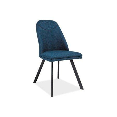 Židle PABLO černá/modrá