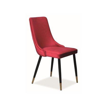 Židle PIANO černá/červená
