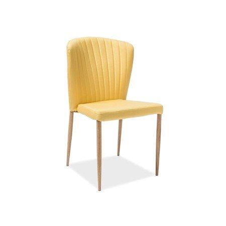 Židle POLLY dub/žlutá