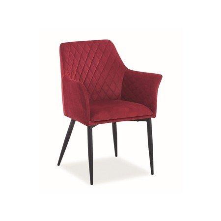 Židle SERGIO černá/červená