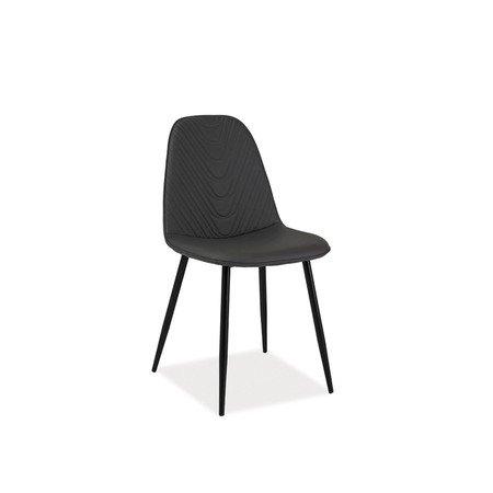 Židle TEO A černá/šedá