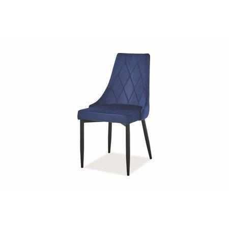 Židle TRIX B černá/modrá