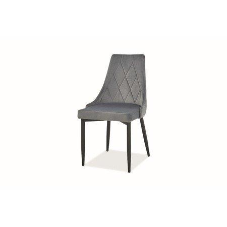 Židle TRIX B černá/šedá