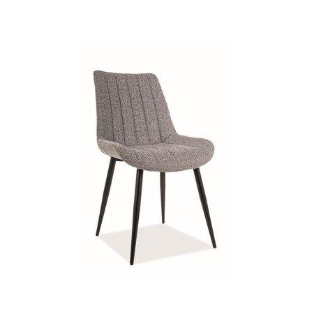 Židle ZOOM černá/šedá