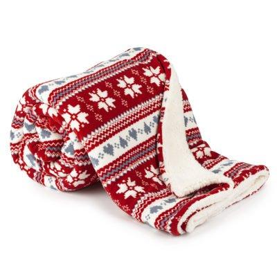 4Home Beránková deka Zimní sen červená