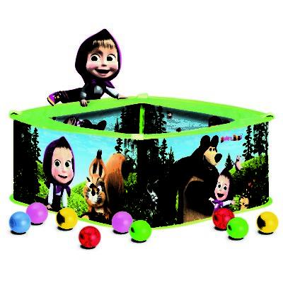 Bino Bazén s balonky Máša a medvěd