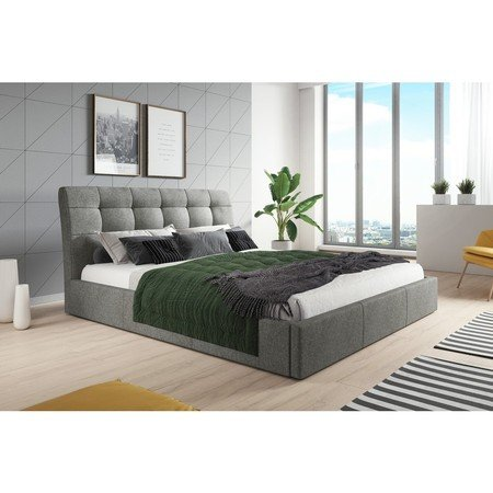 Čalouněná postel MALAGA šedá rozměr 160x200 cm