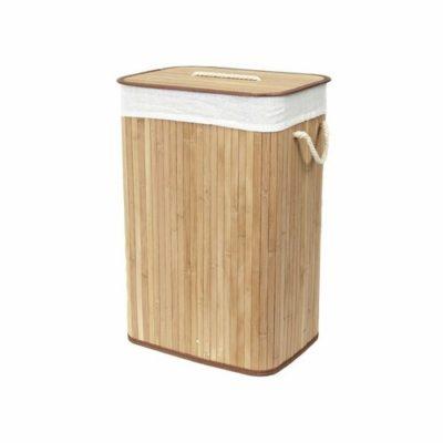 Compactor Koš na špinavé prádlo Bamboo hranatý