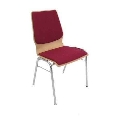 Čalouněná konferenční židle SVEZIA Hnědá