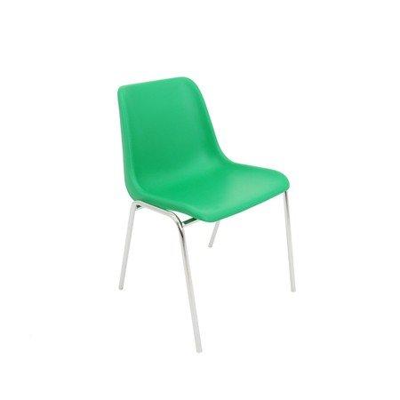 Konferenční židle Maxi chrom Zelená