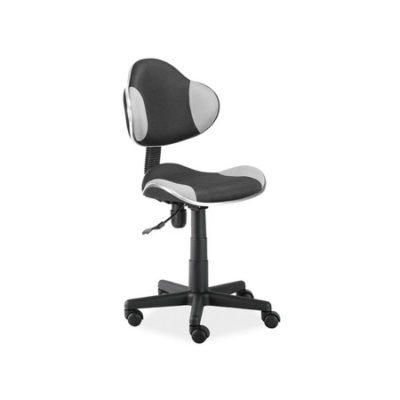 Židle kancelářská Q-G2 šedo/černá