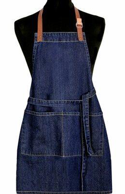 Dětská zástěra Jeans tmavě modrá