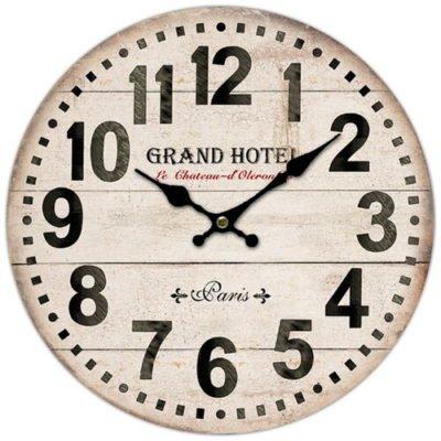 Dřevěné nástěnné hodiny Grand hotel Paris