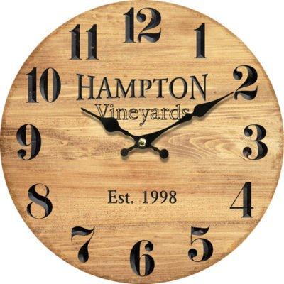 Dřevěné nástěnné hodiny Hampton