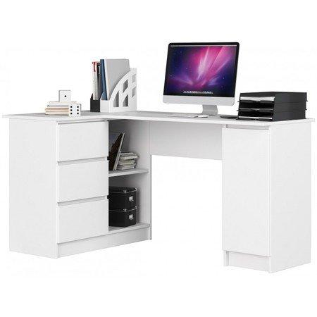 Počítačový stůl B-20 levá bílá