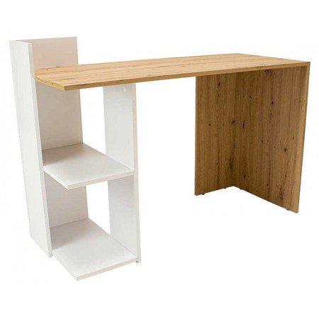 Počítačový stůl TACO bílá/dub artisan