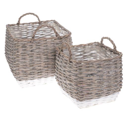 Sada proutěných košíků - obalů na květináč Kasterlee