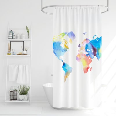 4Home Sprchový závěs Map of the world