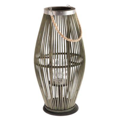 Bambusová lucerna se sklem Delgada zelená