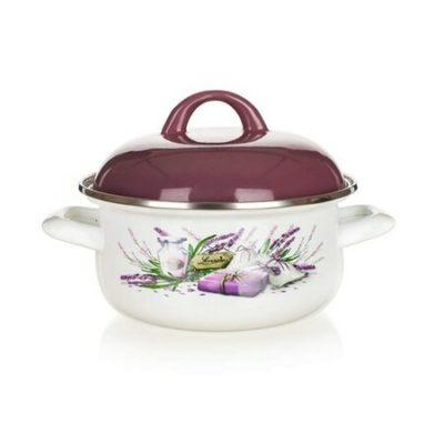 Banquet Smaltovaný kastrol Lavender 22 cm