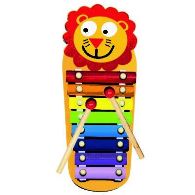 Bino Kovový xylofon Lvíček