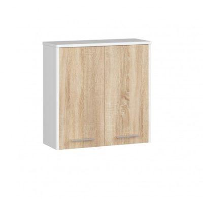 Koupelnová závěsná skříňka FIN W60 2D-sonoma/bílá