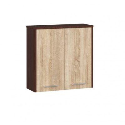 Koupelnová závěsná skříňka FIN W60 2D-sonoma/wenge