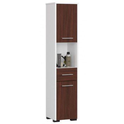 Koupelnová skříňka Fin 2D 1SZ 1W bílá/wenge