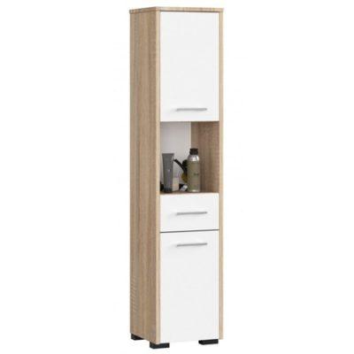 Koupelnová skříňka Fin 2D 1SZ 1W dub sonoma/bílá
