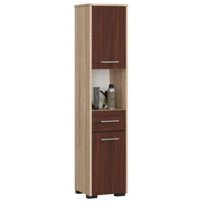 Koupelnová skříňka Fin 2D 1SZ 1W dub sonoma/wenge