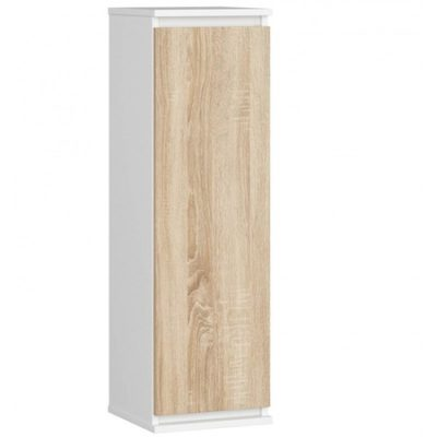 Vitrína CLP W 30 cm bílá/dub sonoma