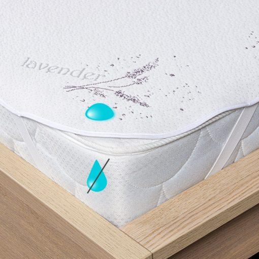 4Home Lavender Nepropustný chránič matrace s gumou