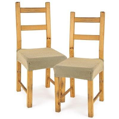 4Home Multielastický potah na sedák na židli Comfort béžová