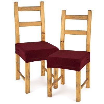 4Home Multielastický potah na sedák na židli Comfort bordó
