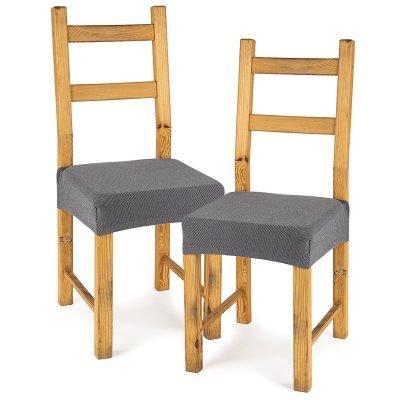 4Home Multielastický potah na sedák na židli Comfort šedá