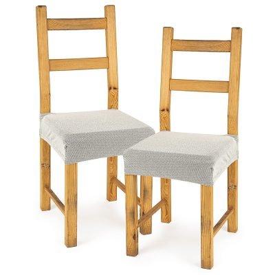 4Home Multielastický potah na sedák na židli Comfort smetanová