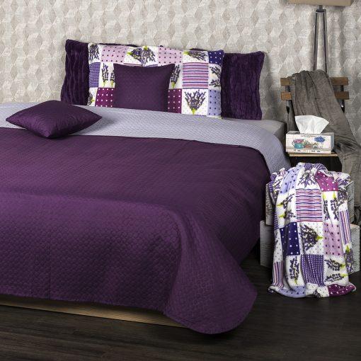 4Home Přehoz na postel Doubleface fialová/světle fialová