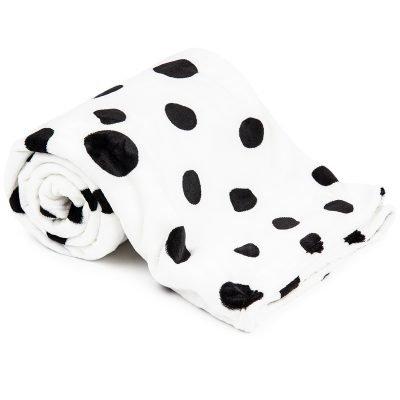 4Home deka Soft Dreams Puntíky Dalmatin černobílá
