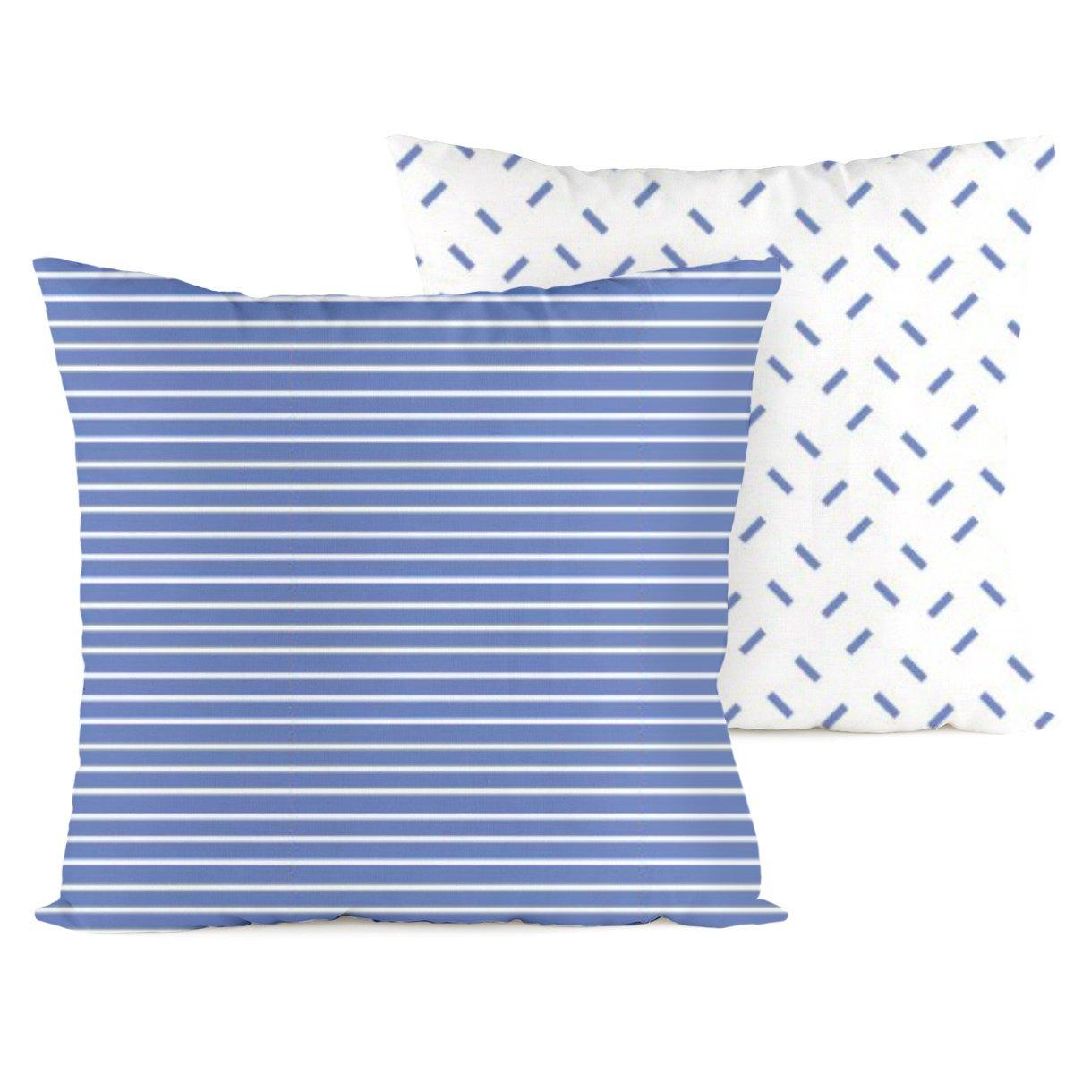 4home Povlak na polštářek Pruhy modrá