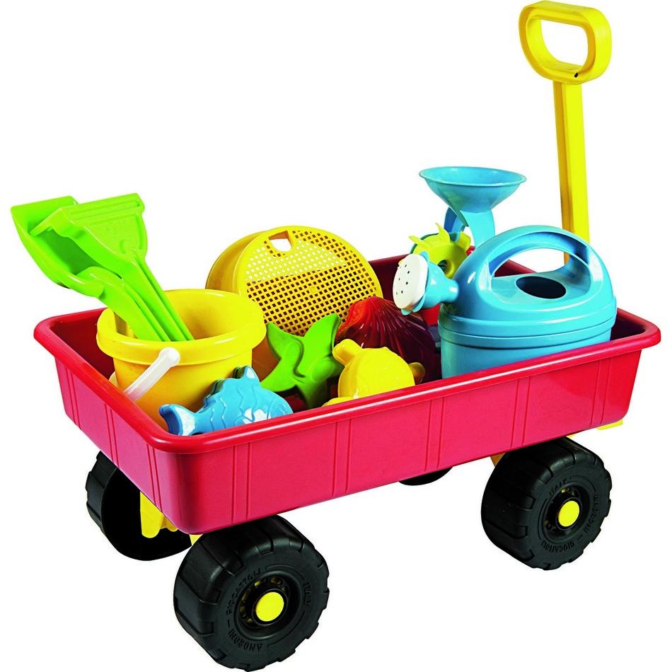 Dětský zahradní vozík s příslušenstvím