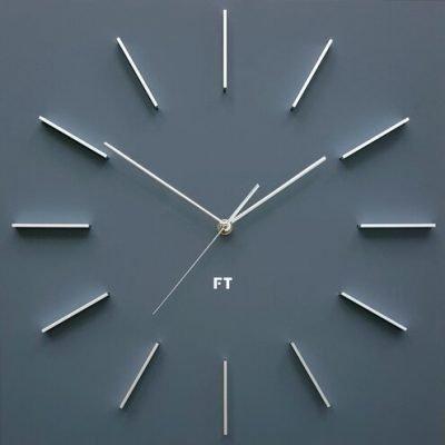 Future Time FT1010GY Square grey Designové nástěnné hodiny
