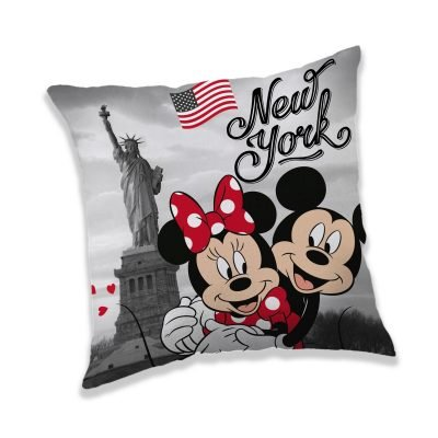 Jerry Fabrics Polštářek Mickey a Minnie in New York