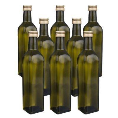 Orion Sada skleněných láhví s víčkem Olej 0