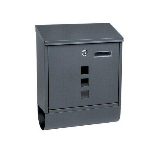 Poštovní ocelová schránka s okénky a tubusem BK.203.AM